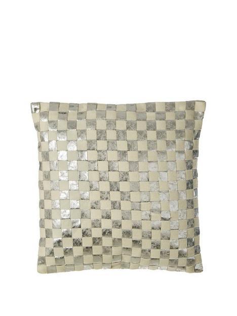 premier-housewares-kensington-townhouse-checkerboard-cushion--nbspsilvernbsp