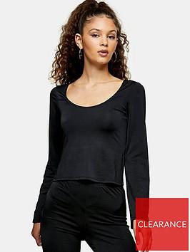 topshop-satin-jersey-long-sleeve-top-black