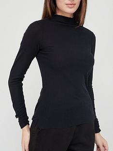 ri-petite-brushed-jersey-high-neck-top-black
