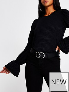ri-petite-puff-sleeve-ruched-jersey-top-black