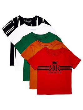 river-island-mini-boys-5-pack-printed-t-shirt--nbspmulti