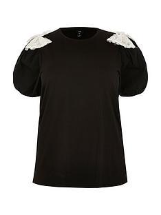 ri-plus-sequin-bow-print-front-t-shirt-black