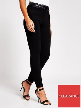 river-island-button-tab-skinny-ponte-leggings-black