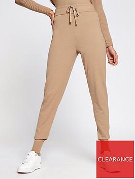 river-island-knitted-slim-leg-jogger-camel