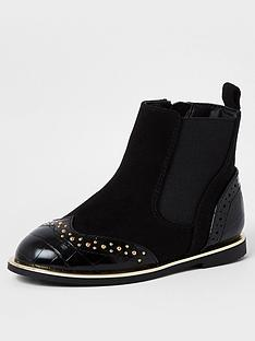 river-island-mini-girls-croc-studded-bootsnbsp-nbspblack