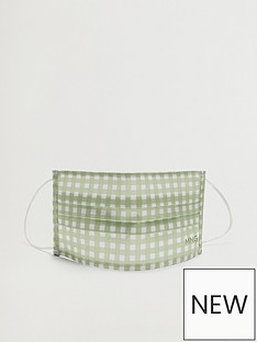 mango-gingham-face-covering-light-green