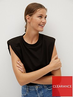 mango-padded-shoulder-tee-black
