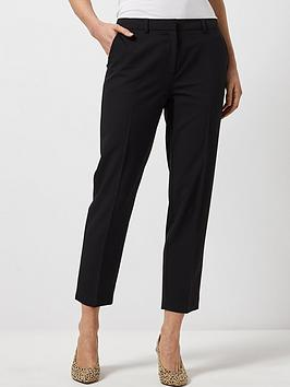 dorothy perkins ankle grazer trousers - black