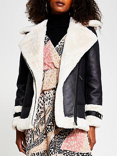 river-island-shearling-aviator-jacket-black