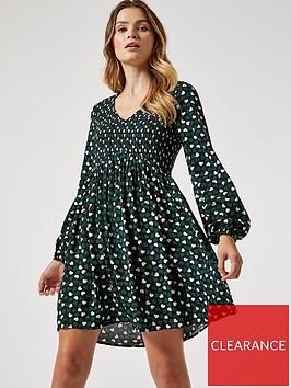 dorothy-perkins-heart-printnbspsmocked-dress-blackgreen
