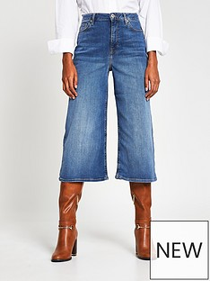 river-island-high-waist-denim-culottes-mid-blue