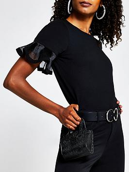 river-island-mesh-insert-flute-sleeve-t-shirt-black