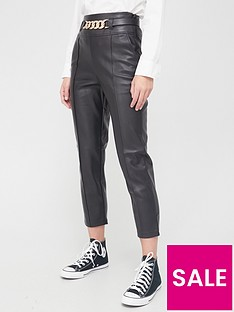 river-island-chain-belt-detail-pu-cigarette-trouser-black
