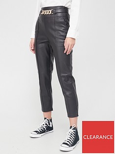 river-island-chain-belt-detail-pu-cigarette-trouser-black