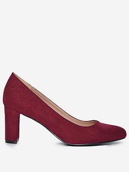 dorothy perkins denver almond toe court shoes - red