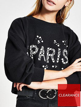 river-island-paris-pearl-embellishment-sweater-black