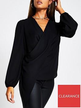 river-island-drape-asymmetric-top-black