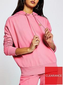 river-island-core-branded-hoodie-dark-pink