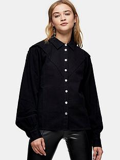 topshop-casual-western-shirt-black