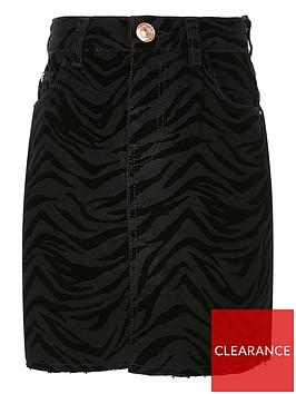 river-island-girls-zebra-flocked-skirtnbsp--black