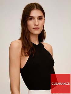 mango-ribbed-halter-neck-top-black