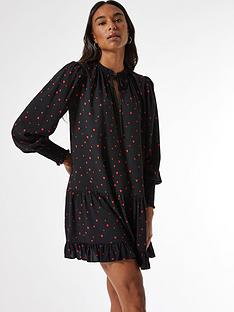 dorothy-perkins-red-heart-print-smock-mini-dress--nbspblack