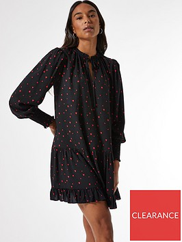 dorothy-perkins-red-heart-print-smock-mini-dress--nbspblack