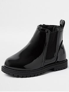 river-island-mini-girls-patent-cleated-boots-black