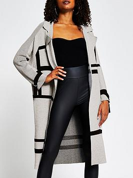 river-island-visual-knitted-duster-grey