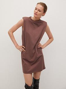 mango-padded-shoulder-t-shirt-dress-brown