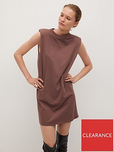 mango-padded-shoulder-t-shirt-dress-brown