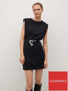 mango-padded-shoulder-t-shirt-dress-black