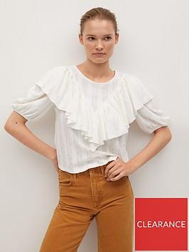 mango-ruffle-front-blouse-natural