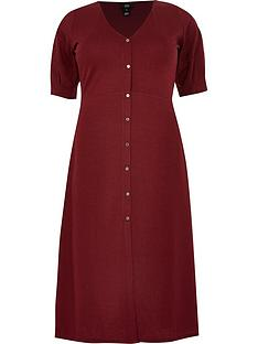 ri-plus-button-down-midi-dress-oxblood