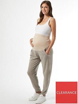 dorothy-perkins-maternity-overbump-brushed-joggers-grey