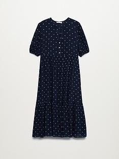 mango-polka-dot-midi-dress-navy