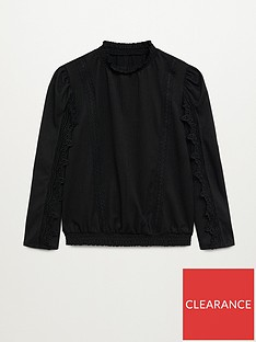 mango-lace-blouse-black
