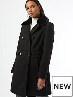 dorothy-perkins-dolly-coat-blacknbsp