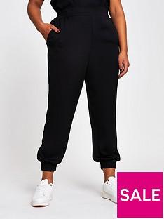 ri-plus-tailored-crepe-jogger-black