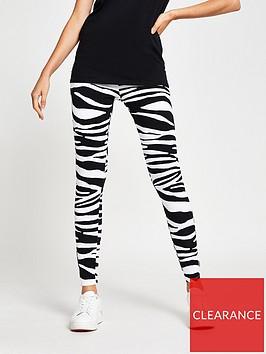 river-island-zebra-print-leggings-black