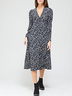 v-by-very-v-neck-long-sleeve-midi-dress-floral