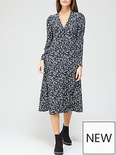 v-by-very-v-neck-long-sleeve-midi-dress-floral