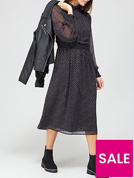 v-by-very-georgette-high-neck-midi-dress