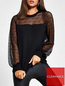 ri-plus-branded-lace-sweat-black