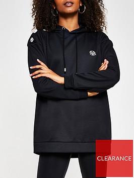 river-island-diamante-button-rvr-longline-hoodie-black