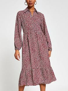 river-island-polka-dot-tiered-smock-shirt-dress-burgundy