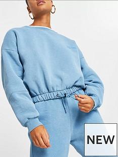 river-island-ri-one-part-recycled-fabric-drawstring-hem-sweater-blue