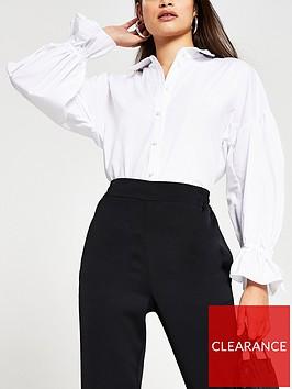 river-island-oversized-sleeve-detail-poplin-shirt-white