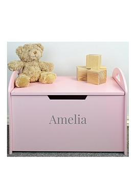 the-personalised-memento-company-personalised-pink-wooden-toy-chest