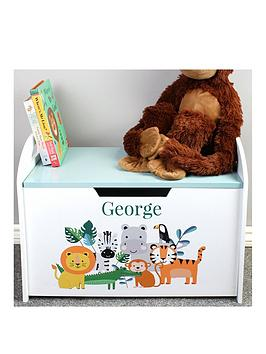the-personalised-memento-company-personalised-jungle-baby-wooden-toy-chest